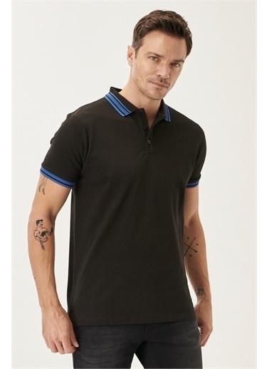 Altınyıldız Classics Slim Fit Dar Kesim %100 Koton Polo Yaka Tişört 4A4821200055 Siyah